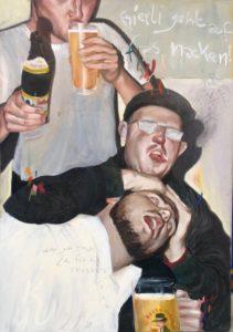 Bierli geht auf Fas Nacken von Jonas Mosbacher