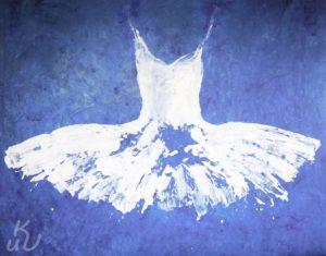 """Blue aus der Serie """"Dresses"""" von Ewa Bathelier"""