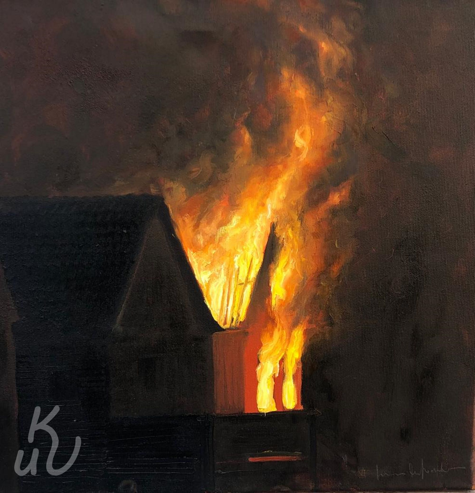 Burning Hopper von Jonas Mosbacher