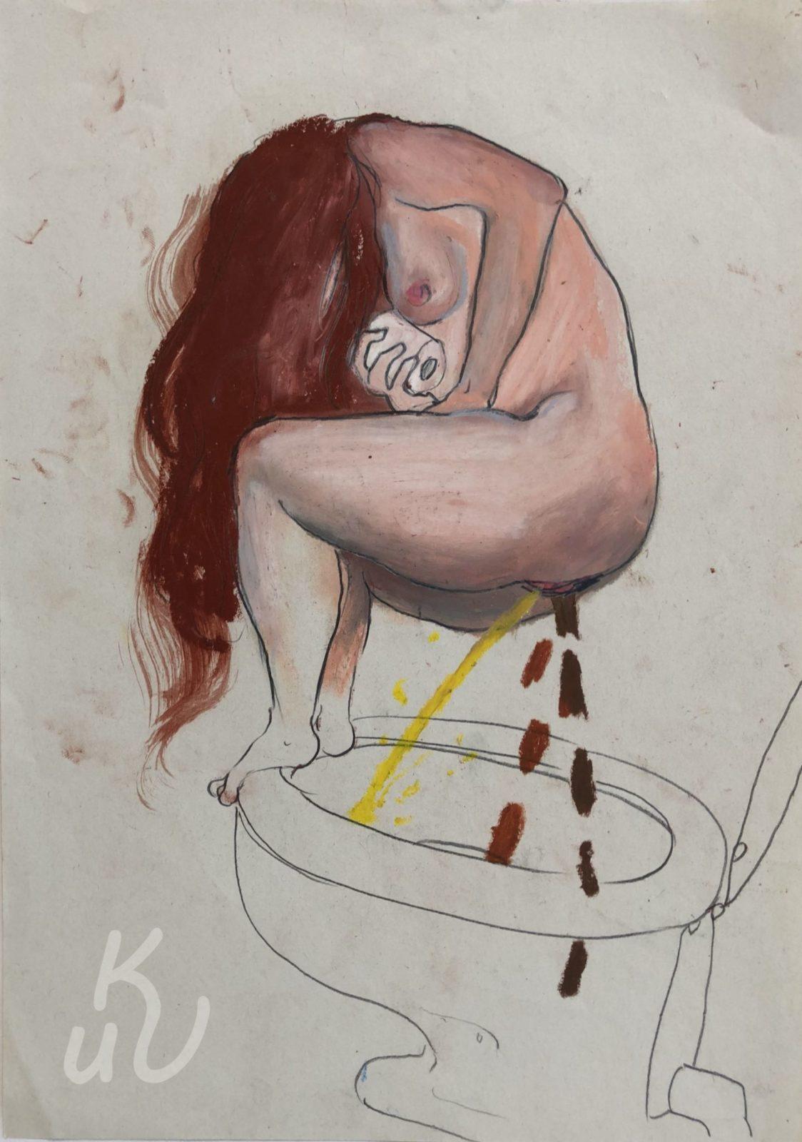 Pooping Jugendstil von Jonas Mosbacher