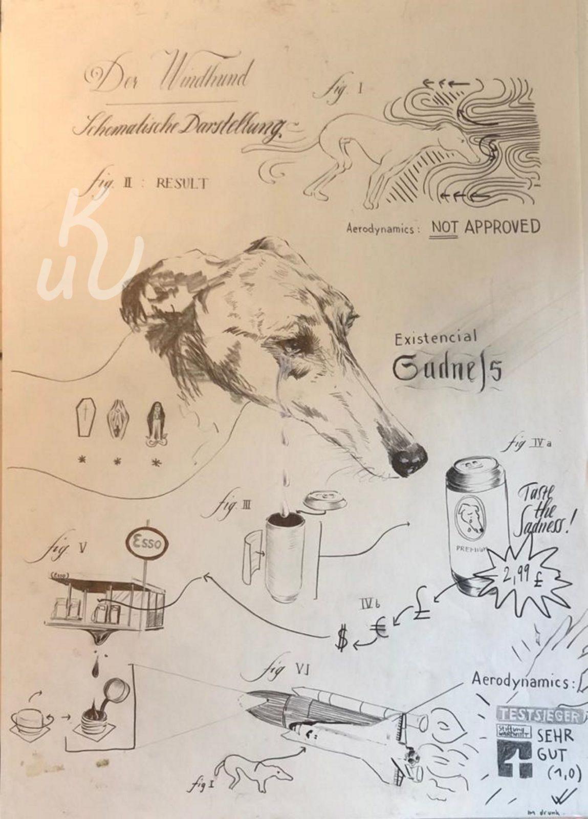 Windhund von Jonas Mosbacher