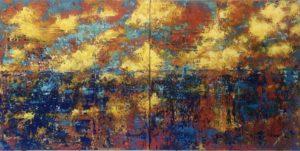 Reflexionen im Sonnenuntergang von Philippe Bordonnet