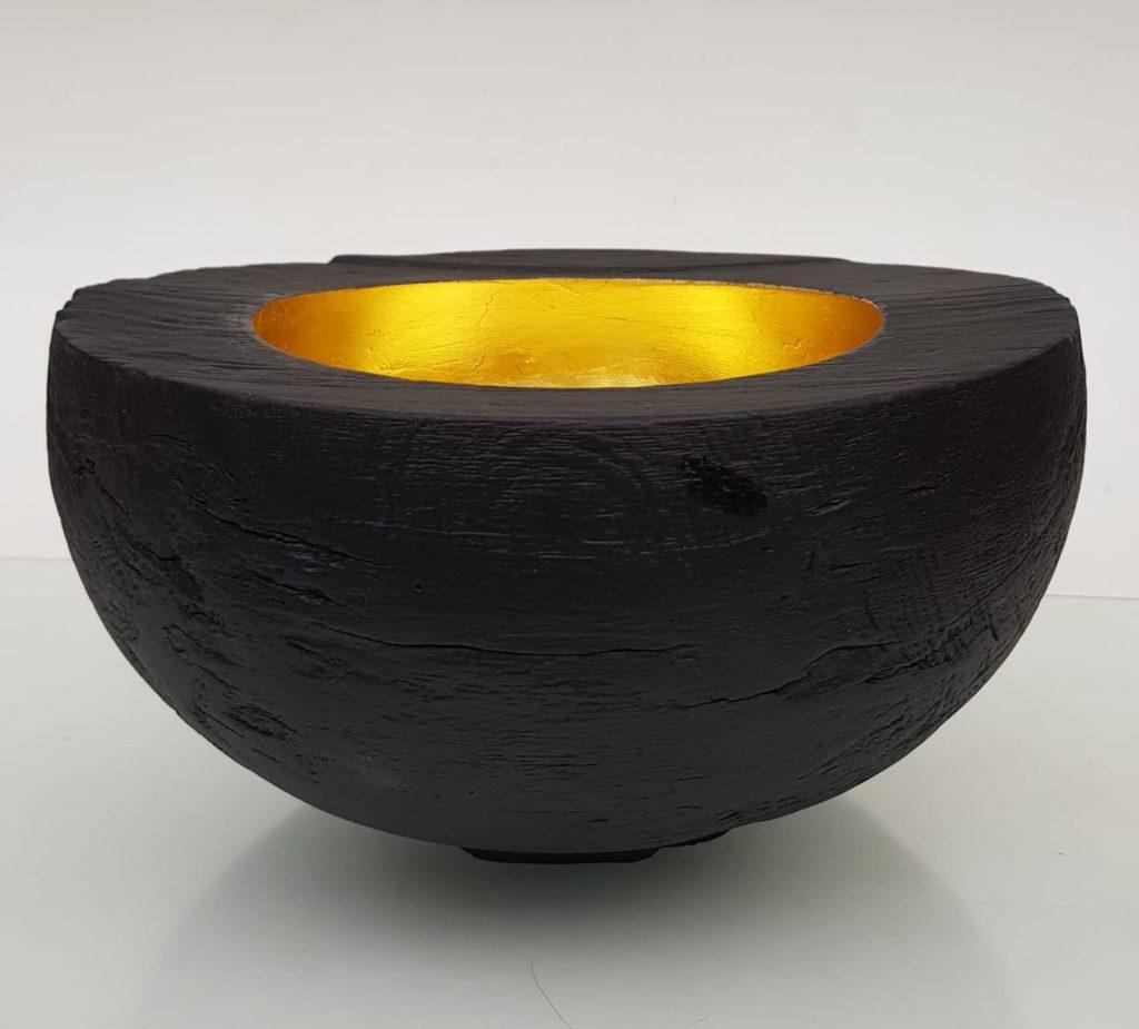 Schale gebrannt & vergoldet von Patrick Rapp