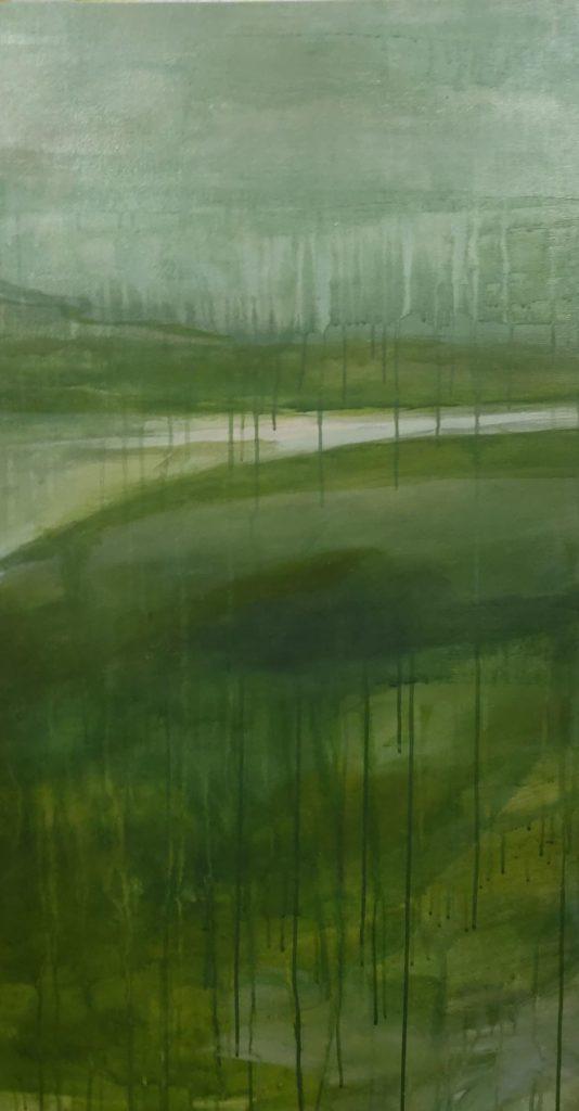 pano 1 tryptique vert von Sophie Bassot