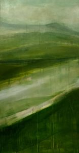pano 2 tryptique vert von Sophie Bassot