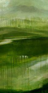 pano 3 tryptique vert von Sophie Bassot