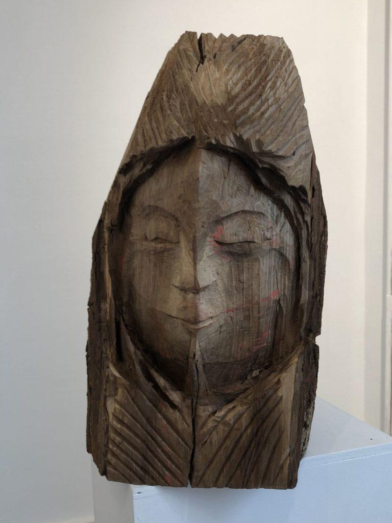 Gesicht mit Helm von Handpeter Zöllin
