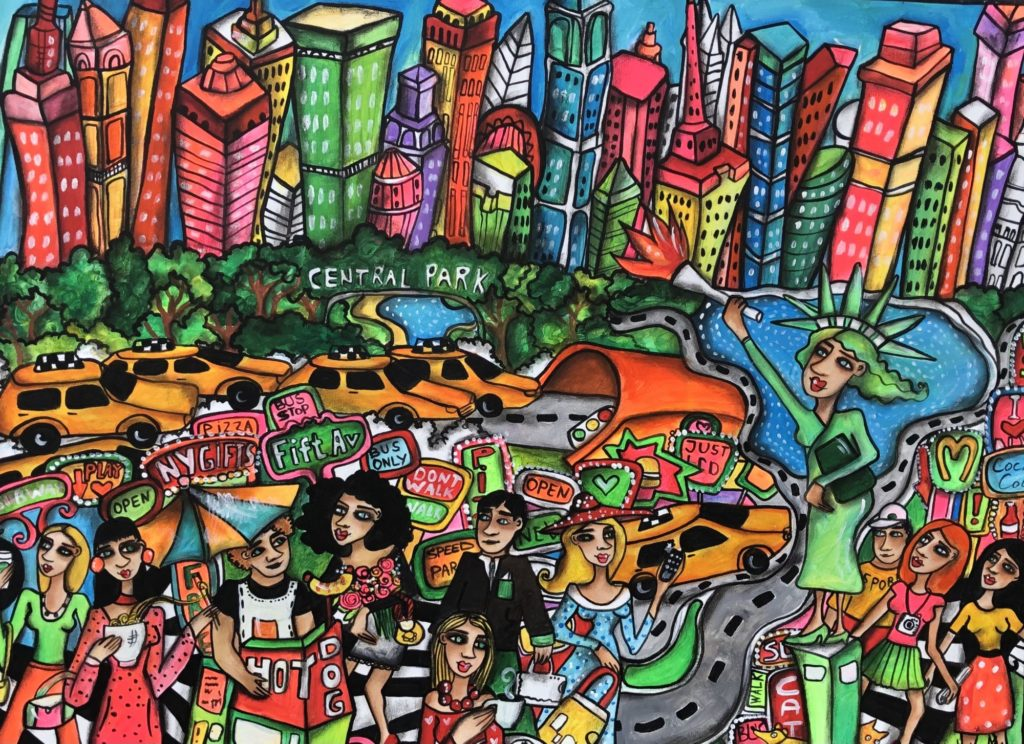 New York Colorful von Anastasia May