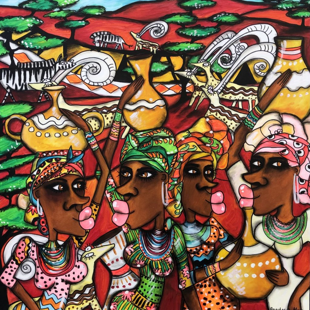 Rote Erde Afrika von Anastasia May
